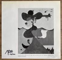 Joan Miro eredetigazolással