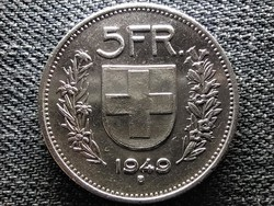 Svájc .835 ezüst 5 Frank 1949 B (id48001)