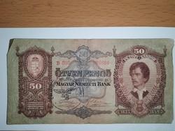 50 pengő 1932! bélyegzéssel!