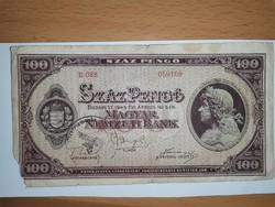100 pengő 1945!, bélyegzéssel!