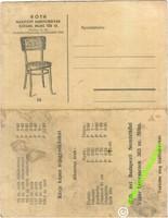 Róth Hajlított fa bútorgyár Szeged  reklám képeslap és árjegyzék