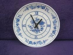 Hagyma mintás porcelán tányér óra