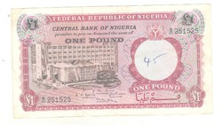 1 pound font 1967 Nigéria 2.