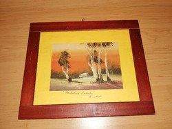 Falikép üvegezett fa képkeretben 25*29,5 cm (n)