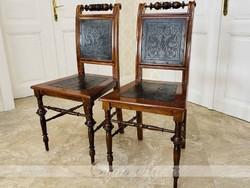 Ónémet bőrözött szék 2db restaurált