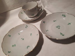 Ó Herendi csésze es tányérok