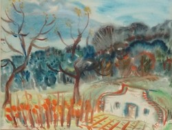 Szabó Vladimir - Borospince 34 x 44 cm akvarell, papír 1964