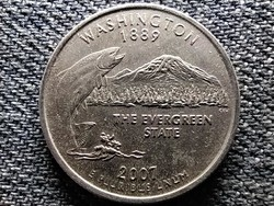 USA 50 State Quarters Washington 1/4 Dollár 2007 D (id47179)