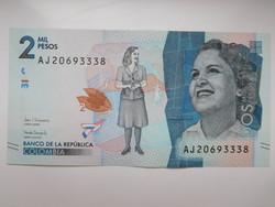 Kolumbia 2000 pesos 2017 UNC