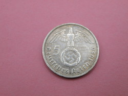 KK1159 1936 D ezüst 5 márka Németország
