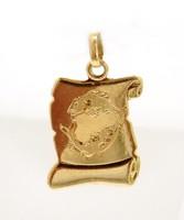 Arany halak horoszkóp medál (ZAL-Au92607)