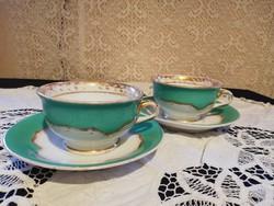 Eladó antik porcelán Pirkenhammer Cristian Fischer türkíz hatalmas teás szettek!