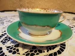 Eladó antik porcelán Pirkenhammer Cristian Fischer türkíz hatalmas teás szett és csésze!
