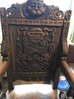 Faragott trón szék