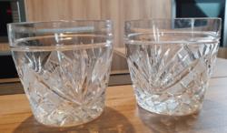 2db whiskys kristálypohár