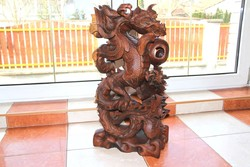 Faragás, faragvány, fa, dísztárgy, szobor 60 cm