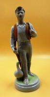 Ludas Matyi porcelán szobor//Drasche/ 26,5 cm magas.Dabóczi Mihály tervezte,1950 évek eleje.