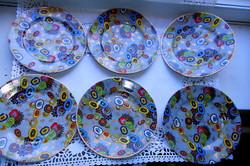 6 db különleges  Haas & Czjzek Schlaggenwald  tányér ritka egyedi minta 15,8 cm