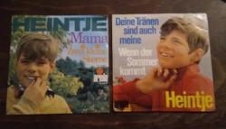 Heintje -Mama -1967 , Ich sing ein  Lied für dich - 1969    2 db kis antikvár bakelit lemez-