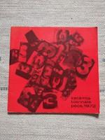 Kerámia Biennálé Pécs, 1972 - katalógus, iparművészet, kerámia