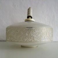 Retro Fehér színű, nagyon különleges mintájú lámpa búra, mennyezeti lámpa