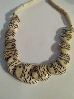 Mutatós régi  halas  nyaklánc
