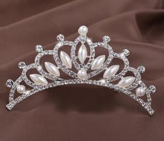 Esküvői, menyasszonyi, alkalmi hajdísz,tiara, fátyol tartó ES-HF06