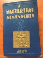 Magyar Ipar 1929-es Évkönyve (Almanachja)