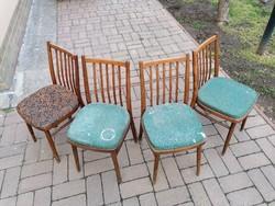 EXPO BRUSSELS 1958, 4 darab régi csehszlovák szék,nagyon jó forma,Tatra nábytok minta,retro,vintage