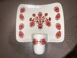 Retro Drasche magyaros porcelán falilámpa
