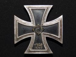 Német 2. VH Vaskereszt Iron Cross / Eisernes Kreuz EK1 - Wächtler & Lange réz belső maggal