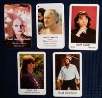 1982-es kártyanaptárak, színészek