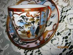 Régi Japán tojáshéj mokkás csésze és tányér