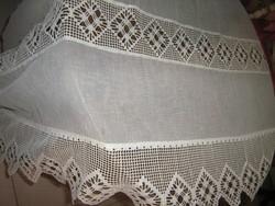 Csodálatos dupla csipkés különleges vintage 408 cm széles 79 cm magas panoráma függöny