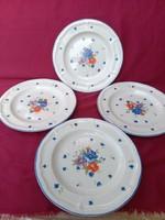 ÉJ: 4 db Régi virág mintás lapos tányér 27  cm