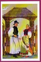 *E - 0035 - - - Irredenta (reprint) képeslap - Külhoni népviselet,  Kalotaszegi