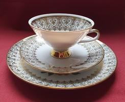 Winterling Bavaria német porcelán reggeliző szett 3 részes (csésze, csészealj, kistányér)