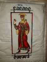 Orosz, 29x14 cm+szerelék, zománcmű rézlemezre, talán tűzzománc, certifikáttal