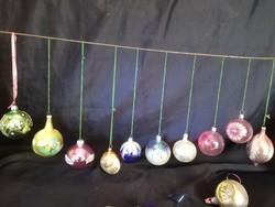Üveg karácsonyfadíszek.19 darab.