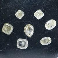 7 db, 1.12ct csodálatos, csiszolt, kezeletlen, természetes gyémánt AIG certifikátummal