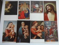 Szép, régi művészi képeslapok: 8 db egyben