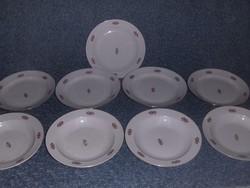 Zsolnay porcelán tányér készlet - 5 lapos 4 mély (s-5)