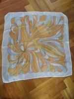 Kendő muszlin szatén sárga narancssárga 50 x 50 cm
