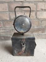 Régi vasúti lámpa bányászlámpa