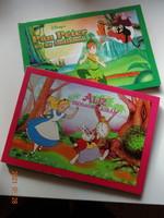 Két szép Disney's leporelló mesekönyv kicsiknek: Aliz csodaországban + Pán Péter és az indiánok