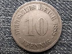 Németország Második Birodalom II. Vilmos (1888-1918) 10 Pfennig 1898 D (id43904)