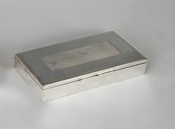 Ezüst  art deco fabetétes doboz
