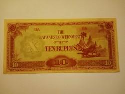 Extra szép 10 Rúpia 1942 Japánl  !!  Hajtatlan !