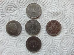 Anglia 5 darab 1 crown - 25 pence - pound LOT ! 28 grammos érmék  05