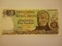 Unc 50 Pesos Argentína 1985  !!